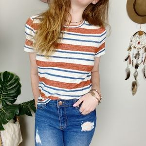 MADEWELL Striped T-Shirt Women's Size Medium